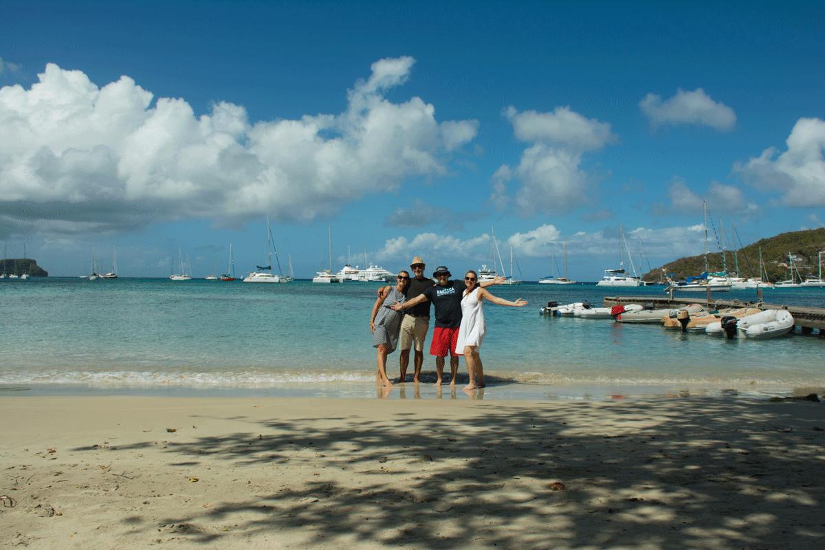 vänner på stranden