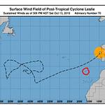 Orkanen Leslie kommer onödigt nära Porto Santo