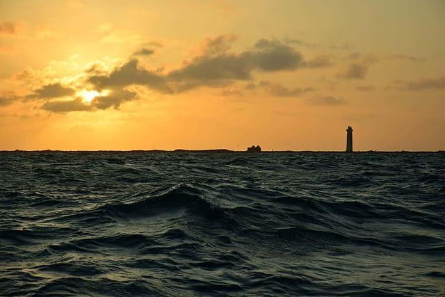 kust solnedgång